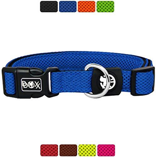DDOXX Hundehalsband Air Mesh, verstellbar, gepolstert   viele Farben & Größen   für kleine & große Hunde   Halsband Hund Katze Welpe   Hunde-Halsbänder breit   Katzen-Halsband klein   Blau, XS