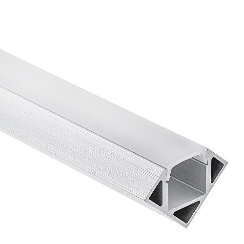 Preisvergleich Produktbild LED Aluminium Profil P23 Pollux LED-Streifen Eck-Profil (Aluminium Profil) 2 Meter Opal
