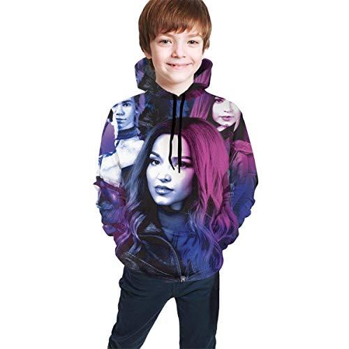 HJYR Descendientes 3 Teen Sudaderas con Capucha y Estampado 3D Sudadera con Capucha Niños Niñas Suéter con Capucha Divertido