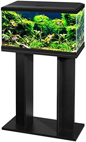 Ciano 60 Tropical Glass 2ft Aquarium & Stand - Includes Filter, LED Lights, Heater & Siphon 58 Litres (BLACK)