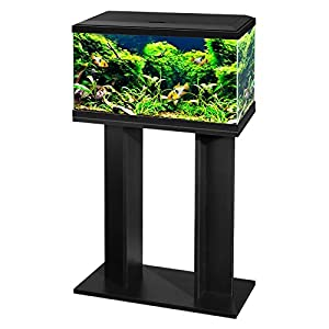 Ciano 60 Tropical Glass 2ft Aquarium & Stand – Includes Filter, LED Lights, Heater & Siphon 58 Litres (BLACK)