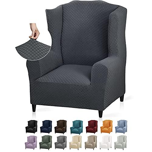 YEMYHOM 1 pieza de funda elástica para silla de orejas con diseño de jacquard de última generación, protector antideslizante para...
