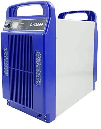 SUDEG Industrieller Wasserkühler, Lasergravurmaschine für Laser, 8L Fassungsvermögen CW3000 Thermolyse Typ Hochleistungs 18 l/min Durchfluss zum Gravieren von US-Steckern