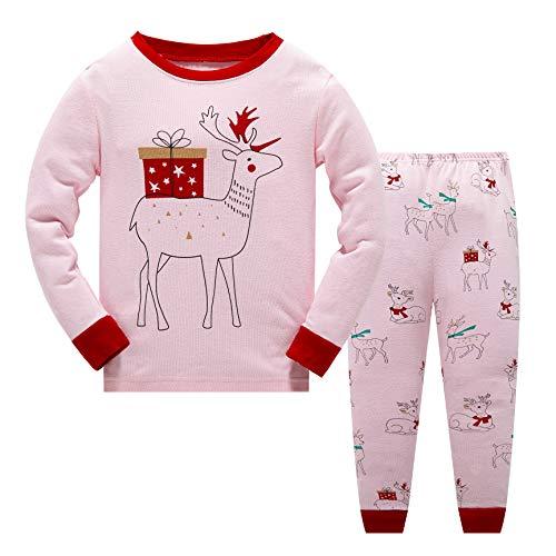Garsumiss - Pijama Dos Piezas - para niño Rosa/Elk 2 3 años