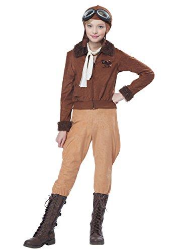Child Amelia Earhart/Aviator Fancy Dress Costume X-Large
