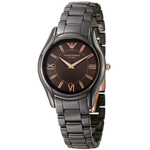 Emporio Armani AR1445 - Reloj (Reloj de pulsera, Femenino, Cerámico, Marrón, Cerámico, Marrón)