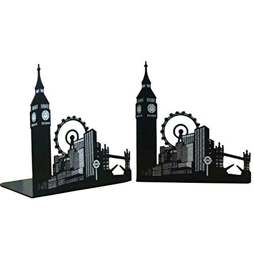 Fancyus - Sujetalibros antideslizantes con diseño de Big Ben y noria de Londres, 1par