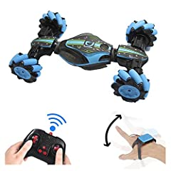 Two Modes of Controlling: One mode is put the watch on your hand and control the stunt car by change your hand gesture, the other is use the remote controller to keep the car driving as you want. This car brings its owner to a nnew level of rc fun. 2...