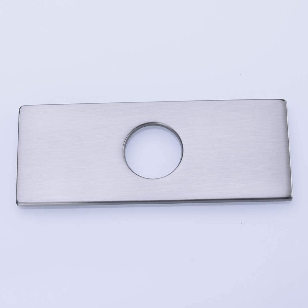 Stainless Steel Vessel Faucet Cover Plate Brushed Nickel,66228BL Tocaloca 10-Inch Kitchen Sink Faucet Hole Cover Deck Plate Escutcheon