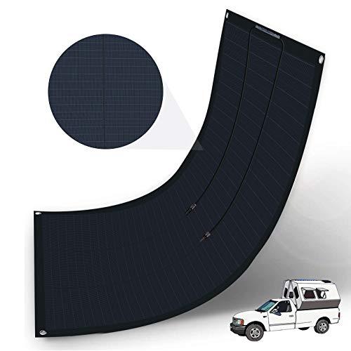 ECO-WORTHY Flexible Solar Panel 100 Watt 12 Volt Waterproof Monocrystalline Solar Panel for RV, Boats, Cabin, Roofs, Uneven Surfaces