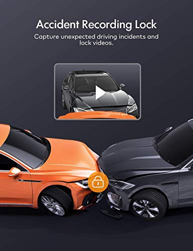 APEMAN Dash Cams Front and Rear Support GPS 1080P Full HD Dual Lens Car Camera with IPS Screen, Dual Dash Cam with 170°Wide Angle, G-sensor, WDR, Night Vision, Motion Detection, Parking Monitoring