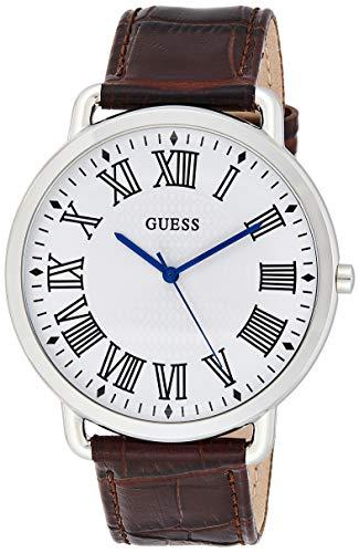 Guess Herren Analog Quarz Uhr mit Leder Armband 91661487965