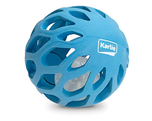 Karlie Gitterball mit TPR LED Leuchtkugel ø: 11.5 cm blau