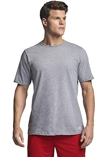 Russell Athletic mens Performance Cotton Short Sleeve T-Shirt, oxford, 4XL