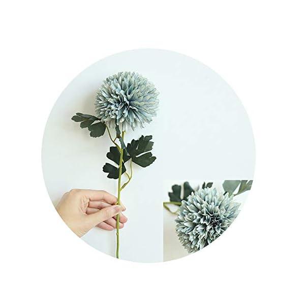 Sevem-D New Silk Dandelion Flower Ball Home Bedroom Table Decoration Fake Flower Wedding Hand Holding Flower