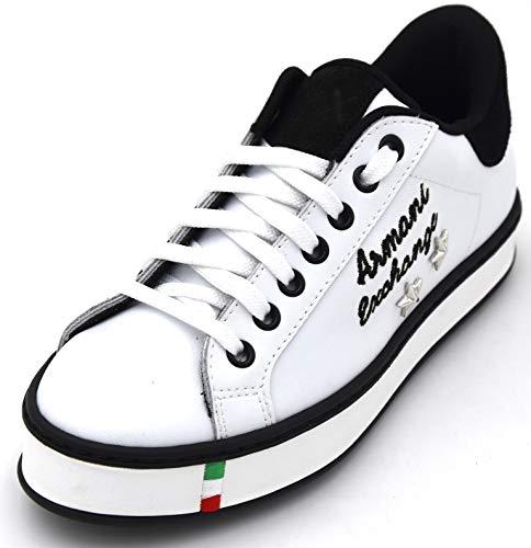 Armani Exchange Damen Turnschuhe Freizeitschuhe Sneaker Casual Art. 945074 8P006 36 Bianco White