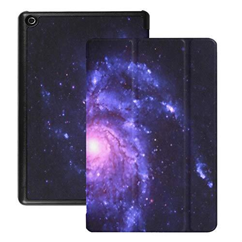 Estuche para Tableta Fire HD 8 (versión 2018/2017/2016), Spiral Galaxy Elements Esta Imagen se proporcionó Carcasa con Encendido/Apagado automático