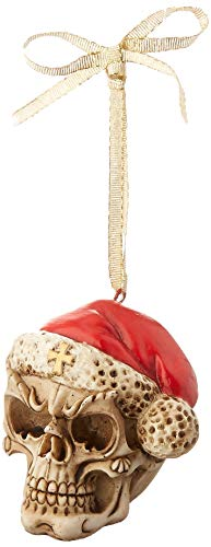 Design Toscano Skelly Claus II Gothic Skull Christmas Tree Ornament, 2 Inch, Single