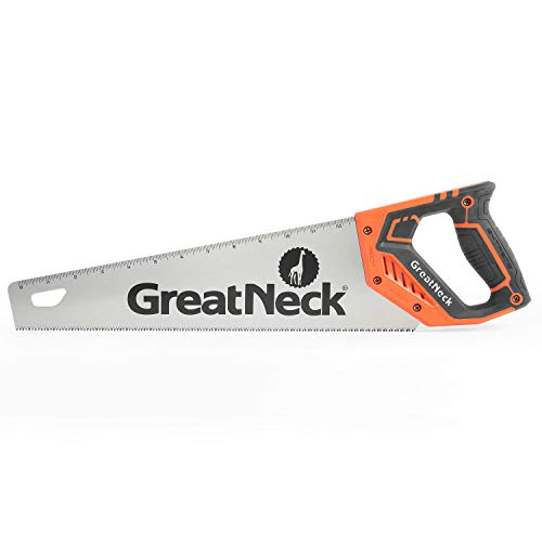 GreatNeck 74001 15 Inch Aggressive Tooth Handsaw for Rough Cuts, Wood saw, Branch Cutter, PVC Cutter, and More, Anti-Slip Ergonomic Composite Handle