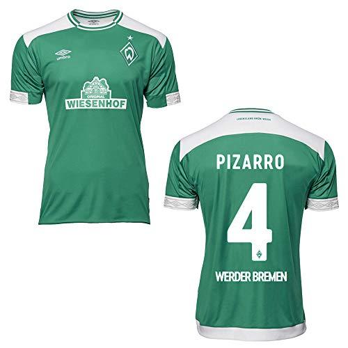 UMBRO SV Werder Bremen Trikot Home 2019 - PIZARRO 4, Größe:YXL (158)