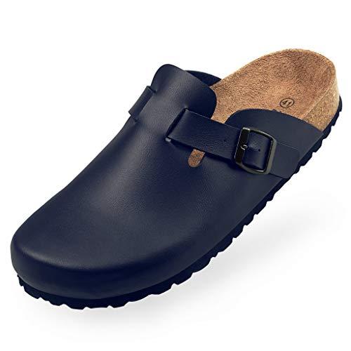 BOnova Wesel Bonoflor Hausschuhe Herren Clogs Sandalen Pantoffeln Latschen Schlappen Pantoletten ähnlich Betula blau 41