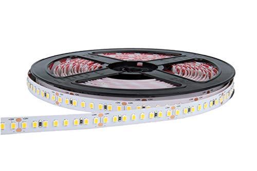 eurekaled–Tira LED a + + 5mt 130W 18000lúmenes 24V bobina Strip LED de 300LED chip 3528, IP20no impermeable Luce Fredda