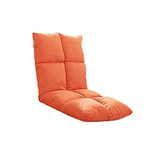 XING ZI LAZY SOFA C-K-P Canapé, canapé-lit, Chambre Simple, lit Pliant, Petit canapé (Couleur: Vert, Orange) (Couleur : Orange)