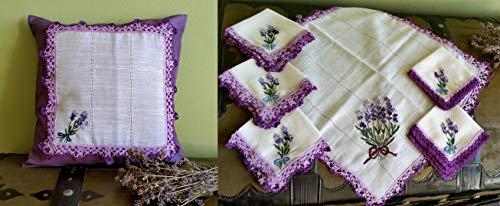 5 Textile Romantico LavandaBiancheria Tavolo by a Set ManoUnico Home Set CraftsRoses centriniCuscinoFatto Decorazione Handmade bmI6yY7gvf