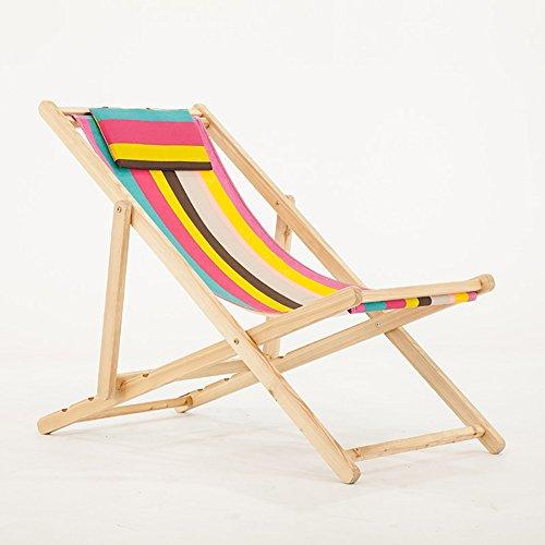 ZCJB La Vie Se Pliante Se Pliante Chaise De Plage Toile Extérieure Piscine Chaise Longue Balcon Balcon Chaise (Couleur : Rainbow Colors)