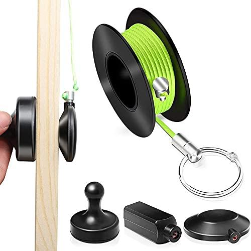 Kabeleinziehhilfe, Magnetischer Einfädler, Magnetisches Kabel-Angelwerkzeug Wiremag Puller Set Kabeleinziehhilfe Magnet Einziehband Magnet Kabelziehstrumpf Set Kabel Einzugshilfe Magnetisch
