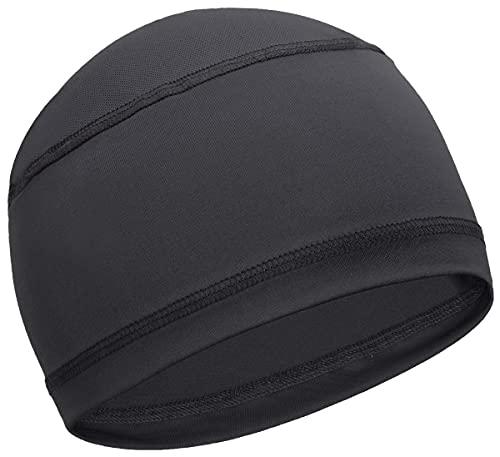 Cooling Skull Cap Helmet Liner for Men - Sweat Wicking Bike, Cycling, Bicycle Head Cap Beanie - Motorcycle & Hard Hat Liners Black