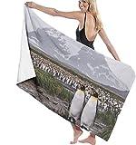 Toalla de Playa Pingüinos de la Antártida Toallas de baño de Microfibra Grandes para Playa, súper absorbentes, de Secado rápido, Ligeras, Deportivas, de Viaje, Gimnasio, Toallas de Piscina 80X130