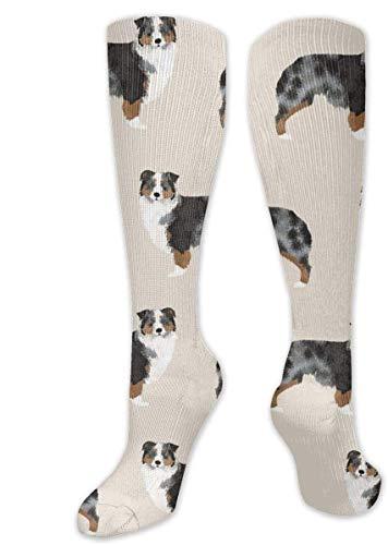 zhouyongz Australian Shepherd calcetines de compresión para hombres y mujeres – mejor graduado atlético y médico para hombres y mujeres, correr, vuelo, viajes