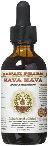 Kava Kava HawaiiPharm NON-Alcohol Liquid Extract, Kava Kava (Piper Methysticum) Dried Root Glycerite 2 oz