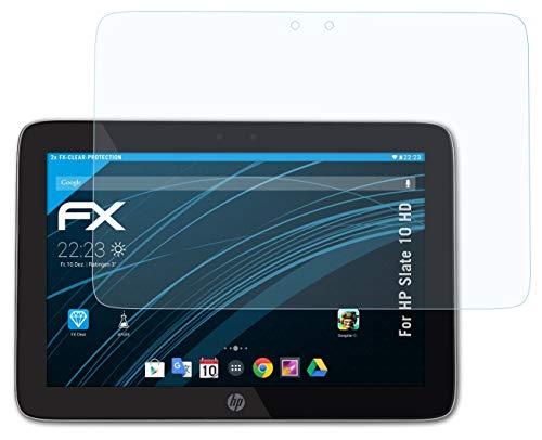 atFolix Schutzfolie kompatibel mit HP Slate 10 HD Folie, ultraklare FX Bildschirmschutzfolie (2X)