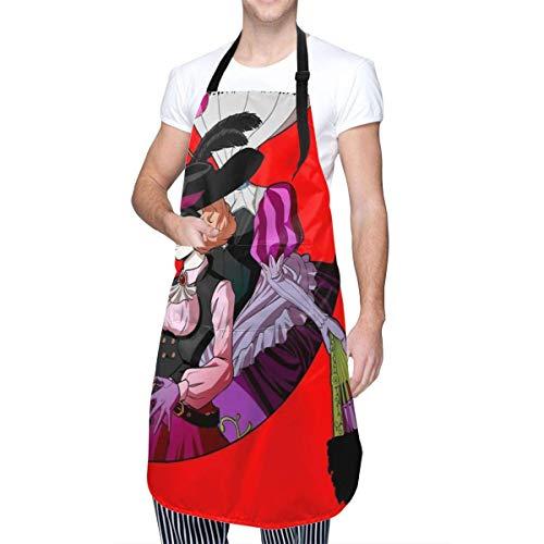 Delantal de Cocina Haru Okumura-Persona 5 con Bolsillo para Hombre Mujer