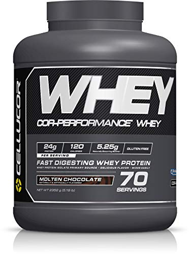 Cellucor COR-Performance Protein Powder Molten Chocolate 5lb. | 100% Gluten Free + Low Fat Post Workout Muscle Growth Drink for Men & Women | 70 Servings, 5.19 lb, 83.04 oz