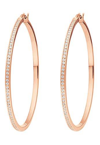 JETTE Silver Damen-Creolen 925er Silber One Size Rosé 32010185