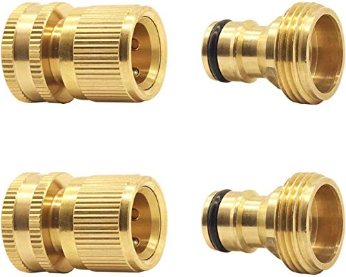 Hydrogarden Connettore per Tubo Flessibile da Giardino Collegamento rapido Adattatori per Tubo Flessibile Estensibile da Giardino Connettore Connessione Rapida Rubinetto e Spray Appliance (2SETS)