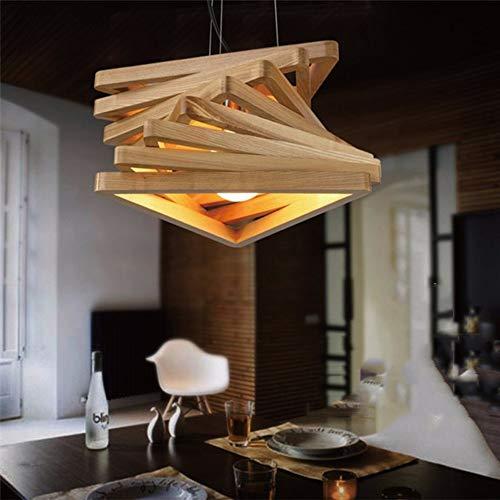 Hancoc Lámpara De Techo De Madera De Techo De Madera De Luz De Techo De Triángulo De Luz Amarilla Cálida De Comedor Que Viven Dormitorio De Estudio Simple Moderno