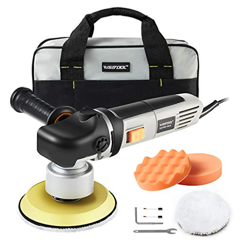 WISETOOL 6-Inch Dual Action Orbital Polisher,7Amp Variable Speed Polisher Sander,Ideal for Car/Home Appliance/Boat Polishing,Sanding,Waxing,Sealing Glaze