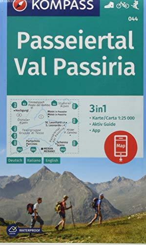 KOMPASS Wanderkarte Passeiertal, Val Passiria: 3in1 Wanderkarte 1:25000 mit Aktiv Guide inklusive Karte zur offline Verwendung in der KOMPASS-App. ... Skitouren. (KOMPASS-Wanderkarten, Band 44)