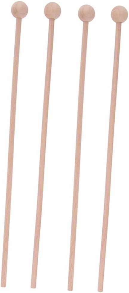 2 Pair Tulsa Mall Wooden Burr-free Mallets Sticks Instru Musical depot Percussion
