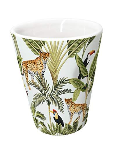 Taza de porcelana para expreso diseño selva