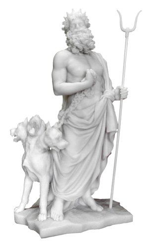 Top Collections Hades and Cerberus Statue - Hades and the Guardian of the Underworld Sculpture in Cold-Cast Marble - 11.25-Inch Collectible Greek Mythology Figurine