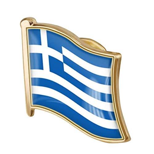 1pc Bandera Griega Pin Del Esmalte Del Metal Pin De La Solapa De La Bandera Griega Broche De La Insignia Nacional De La Novedad De Accesorios