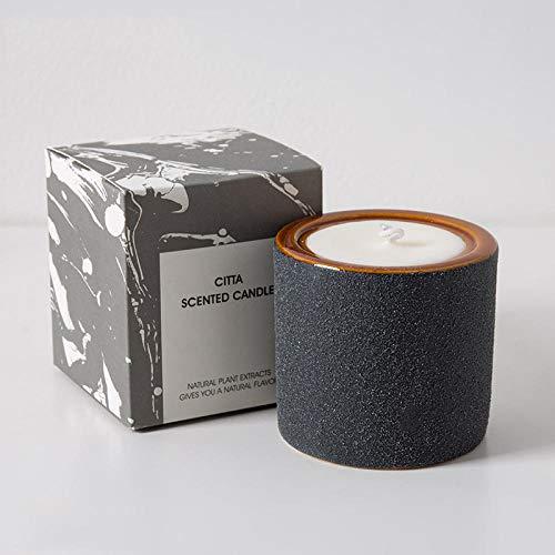 TAYIBO Vela de Perfumada Grande,Vela, aromaterapia Interior de cerámica, hogar Esmerilado Duradero, Grande, Negro