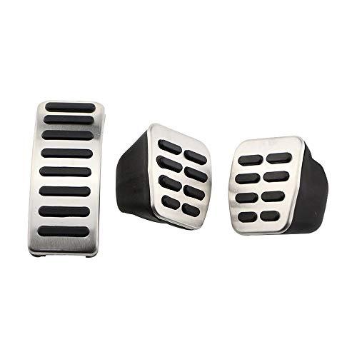 JJKTCV Cubierta de los Pedales de Freno de la Almohadilla del Pedal de Acero Inoxidable, para VW Golf 3 4…