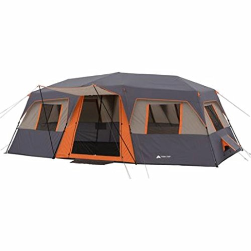 Cabin Tent 12-person 3-room Instant (Orange)