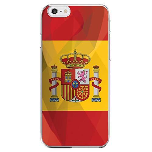 Shot Case Carcasa Silicona para iPhone 6/6S la Bandera de España protección Gel Suave Funda–Funda Rosa Pale